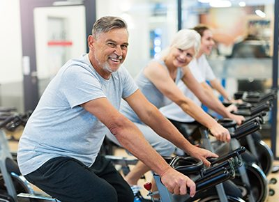 seniors exercising, healthy habits